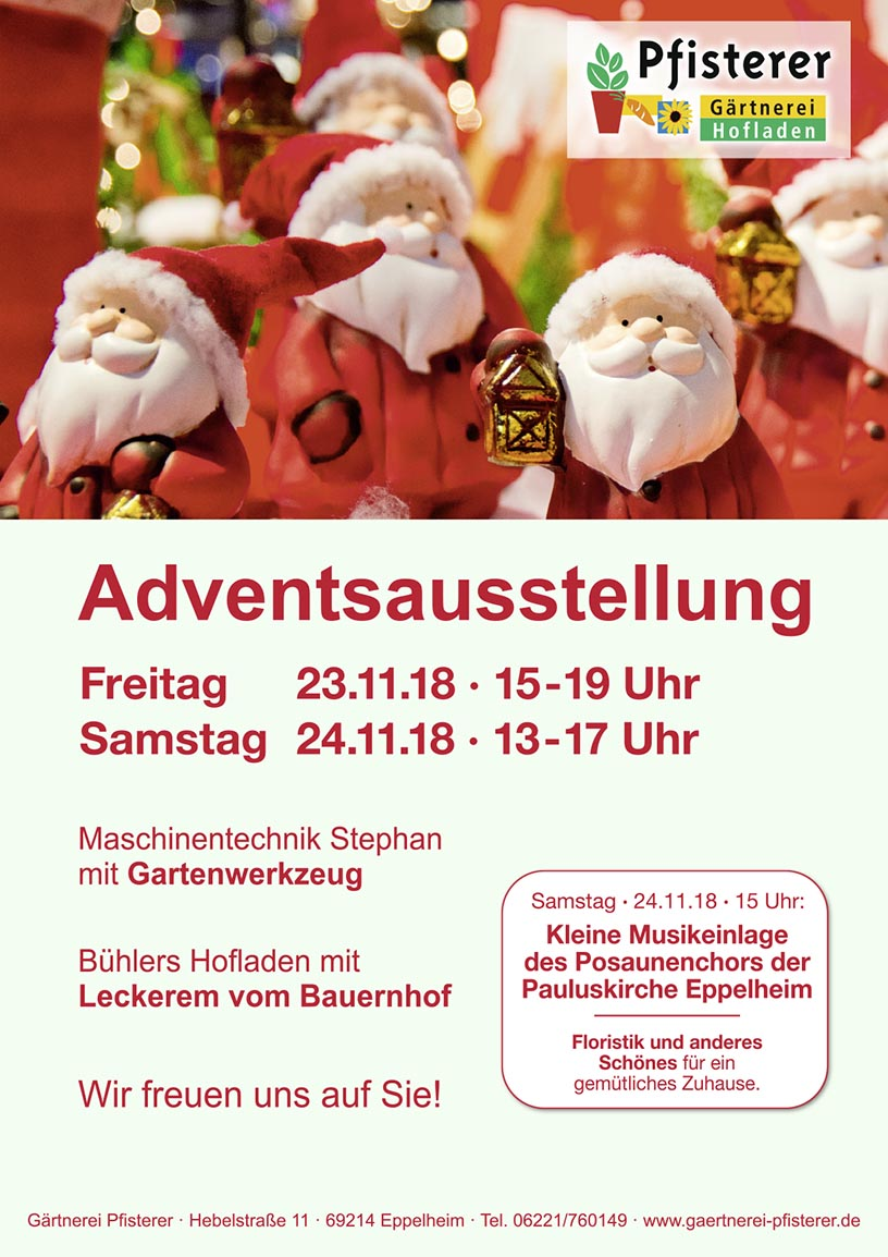 Plakat Advent DIN A4 2018